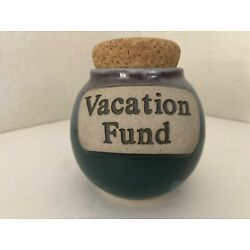 Tumbleweed Pottery Vacation Fund Jar with Cork Stopper 5