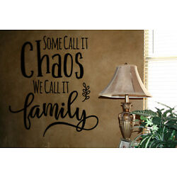 SOME CALL IT CHAOS WE CALL IT FAMILY VINYL WALL DECAL HOME DECOR LETTERING QUOTE