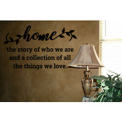 HOME STORY OF WHO WE ARE VINYL WALL DECAL QUOTE WORDS STICKERS LETTERING WALL