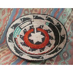 Southwestern Style Basket   Handmade Coil Basket  Fine Weave  over 13 inches