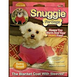 Open Box Item, Dog Snuggie Size Extra Small 5-7 Lbs, Pink, Blanket Coat Sleeves