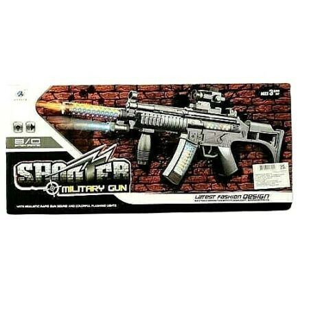 img-KIDS SHOOTER MILITARY PISTOL TOY GUN LIGHTS SOUNDS BOYS GIRLS ARMY SOLDIER PLAY