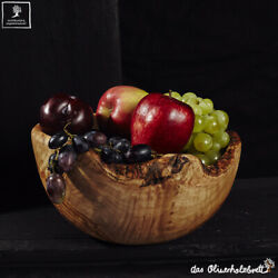 Large Bowl Rustic from Olive Wood Bowl Salad Bowl Fruit Bowl 7 7/8in