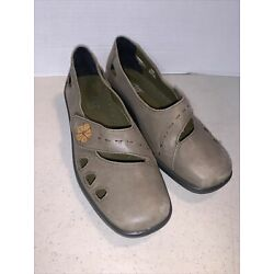 Womens Hotter Tan Leather Bliss Comfort Concept Shoes Sz 7.5 Mary Jane Flats NEW