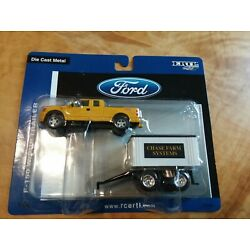 1/64 Ford F-150 Truck Yellow With Pup Trailer Ertl Britains