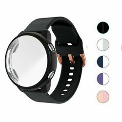 Silicone Watch band Strap Full Case For Samsung Galaxy Watch Active 2 40mm 44mm