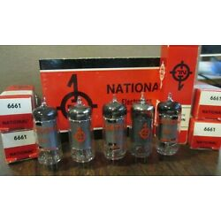 5 NATIONAL ELECTRONICS 6661 VACUUM TUBES NOS TESTED Multiples Available
