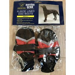 Guardian Gear All Weather Fleece Lined Dog Boots/Booties Small Red NEW