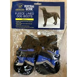 Guardian Gear All Weather Fleece Lined Dog Boots/Booties Small Blue NEW