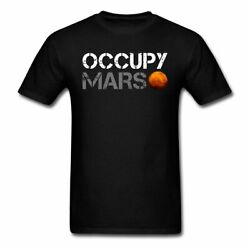 Occupy Mars Space Planet Nerdy Men's T-Shirt
