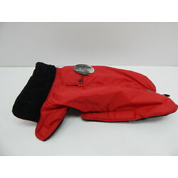 Petmate Wouapy 90070 Raincoat for Dogs, Eco Red, Large 14-16''