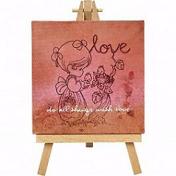 Home Decor-Do All Things With Love Canvas w/Stand (8'' x 5'')