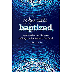 Bulletin-Arise  And Be Baptized (Acts 22:16  KJV) (Pack Of 100)