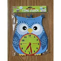 Tell the Time Owl Clock Smibo Educational Ages 3+ Approximately 9.5'' x 11'' NEW