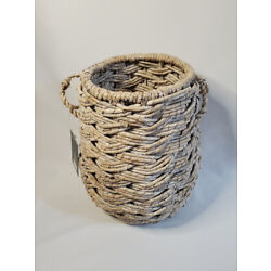 Target Threshold Small Discontinued Round Seagrass White Washed Storage Basket