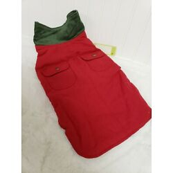 Up Country Red Fleece Lined Barn Dog Coat - Size 14 small