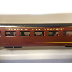 N Scale Con-Cor Custom Painted Norfolk and Western 85 ft. Passenger Car Coach