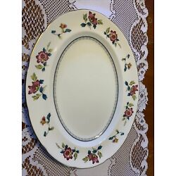 Wedgwood China Chinese Flowers Meat Serving Platter - R4498 England