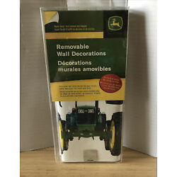 JOHN DEERE Tractors Removable Wall Decorations Self Stick Decals New in Pack