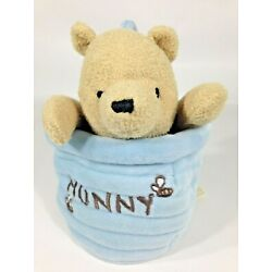 Classic Pooh A Bear and His Things Plush Musical Crib Pull Toy Hunny Pot
