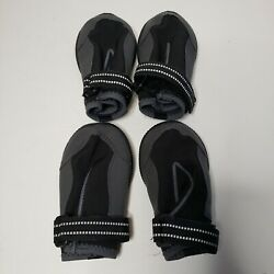 Top Paw Black Protective Dog Outdoor Rain/Snow Boots Shoes Walking  Size Large