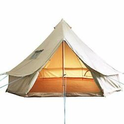 Luxury Outdoor Bell Tent 4 Season Large Cotton Canvas 16.6FT(Water Repellent)