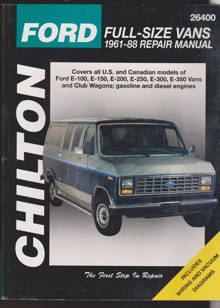 Chilton 1961 1988 Ford Full Size Vans Repair Manual