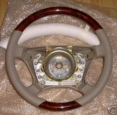 Mercedes benz w210 e class wooden steering wheel custom ebay for Mercedes benz steering wheel cover