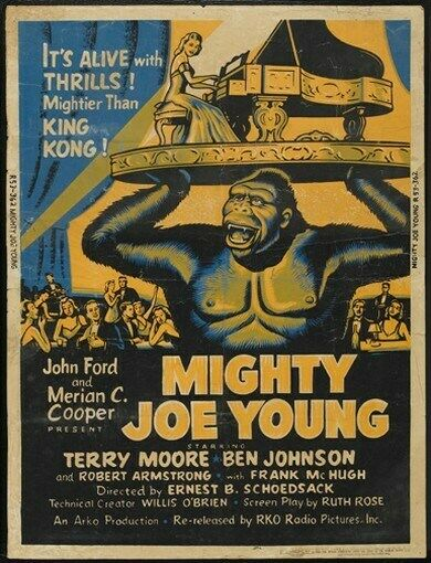 MIGHTY JOE YOUNG MOVIE POSTER King Kong RARE VINTAGE | eBay