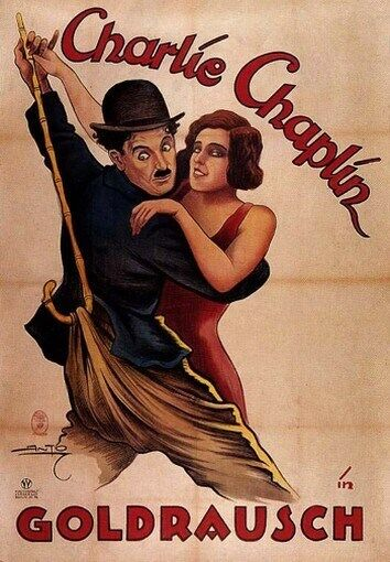 THE GOLD RUSH MOVIE POSTER Charlie Chaplin VINTAGE 5 | eBay