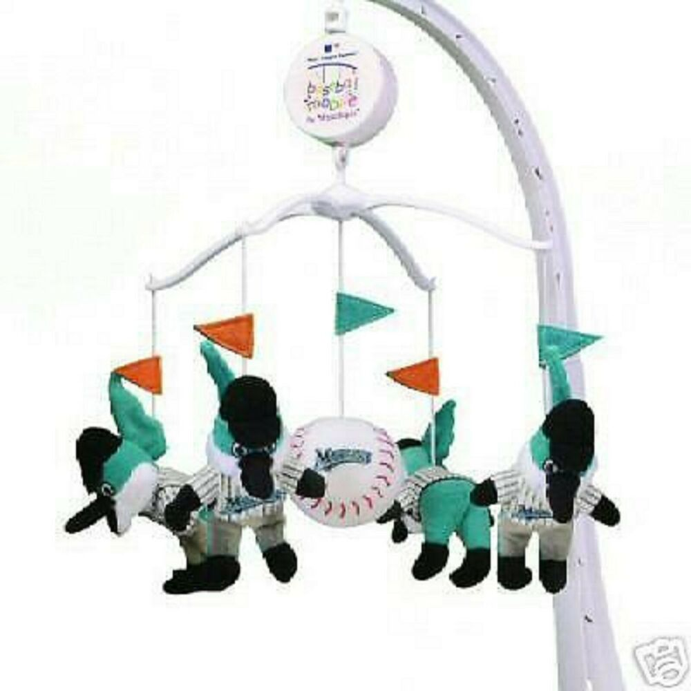 florida marlins musical baby crib mobile plush cute ebay. Black Bedroom Furniture Sets. Home Design Ideas
