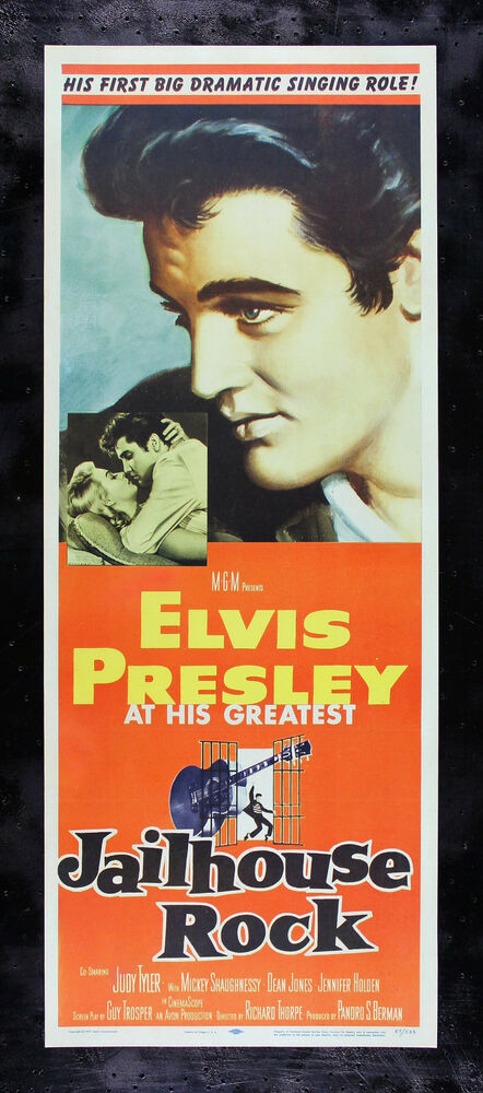 JAILHOUSE ROCK * CineMasterpieces ORIGINAL MOVIE POSTER ...