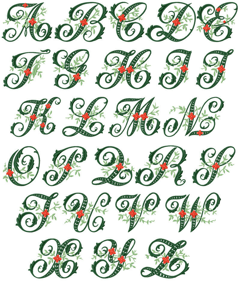 Abc designs wildwood ivy font machine embroidery