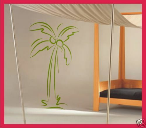 palme baum wand deko wandsticker wandtattoo v9 60cm ebay. Black Bedroom Furniture Sets. Home Design Ideas