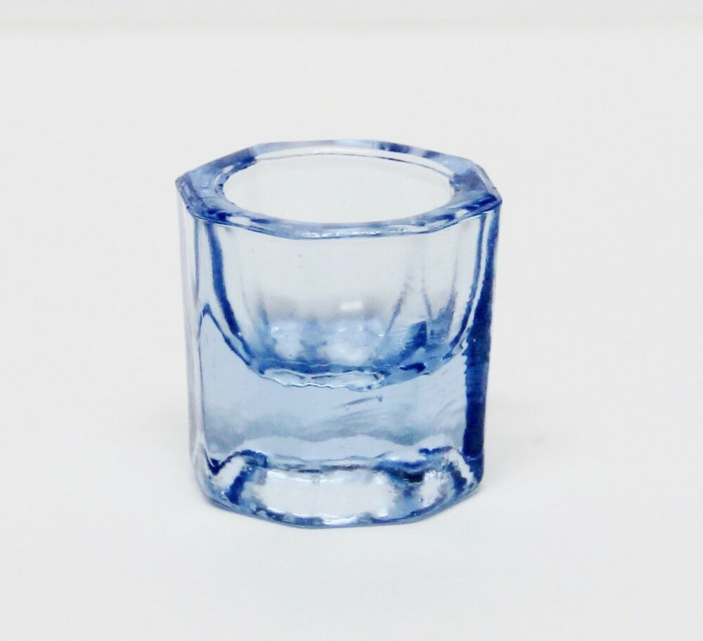 Glass dappen dish blue acrylic liquid holder container for Glass or acrylic