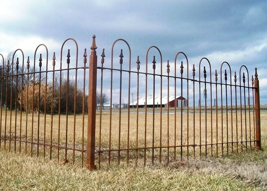 3 39 tall wrought iron fence great easy install fencing ebay for Easy fence installation