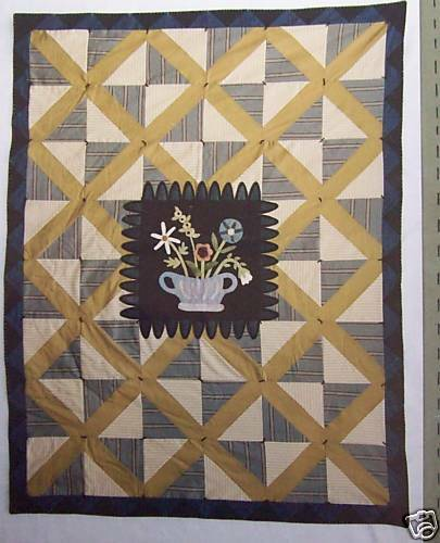 Hand Quilting Heart Patterns : Heart to Hand Garden Lattice Quilt pattern oop 60x78 eBay