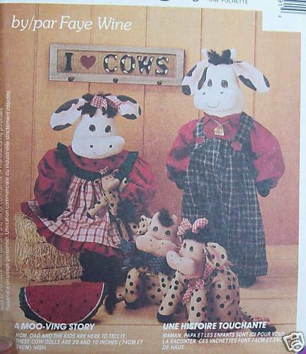 Faye Wine Kitchen Cow Greeter Doll Pattern 29 Quot 10 Quot Family