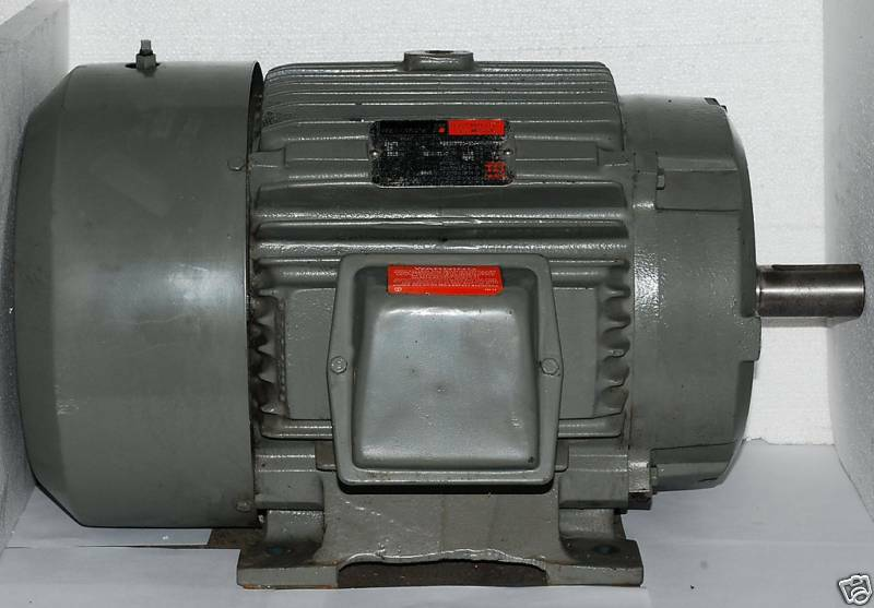 Reliance 25 hp 3515 rpm 3 phase motor new surplus ebay for 15 hp 3 phase baldor motor