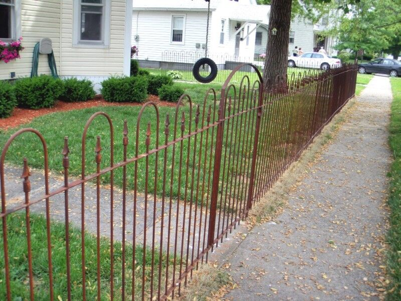 Tall wrought iron fence great fencing w old look ebay