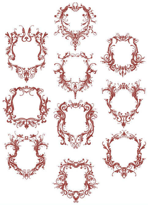 Abc designs fancy frames machine embroidery designs set for Embroidery office design version 7 5