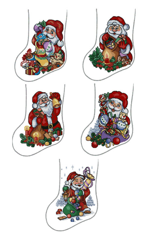 Abc designs 5 christmas stockings machine embroidery cross for Embroidery office design version 7 5