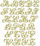 """ABC Designs Wheat Font - Embroidery Designs Alphabet for 4""""x4"""" Hoop"""
