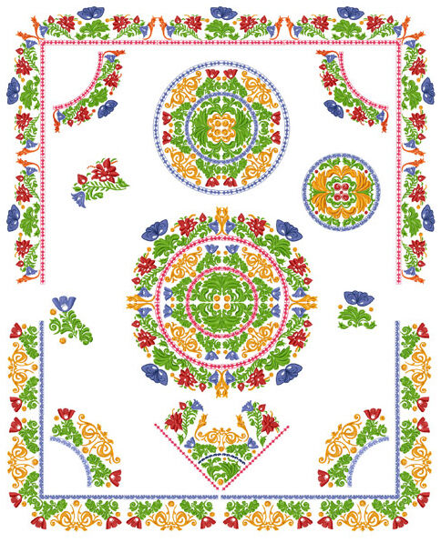 Sacred wildflower garden embroidery designs 5x7hoop ebay for Embroidery office design version 7 5