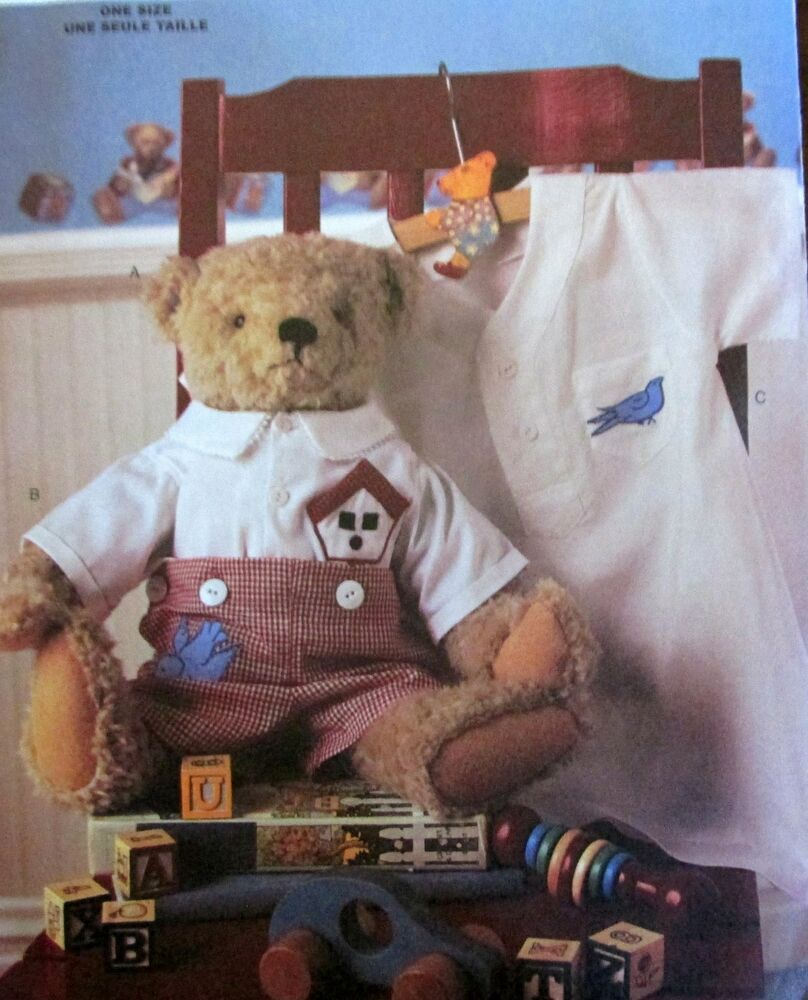 Old Time Vtg Reproduction Teddy Bear Pattern 17 Quot Tall