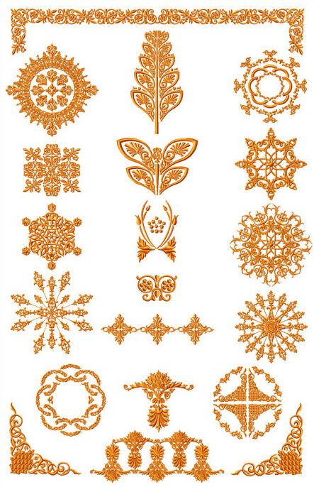 Abc designs amber ornaments machine embroidery designs 5x7 for Embroidery office design version 7 5