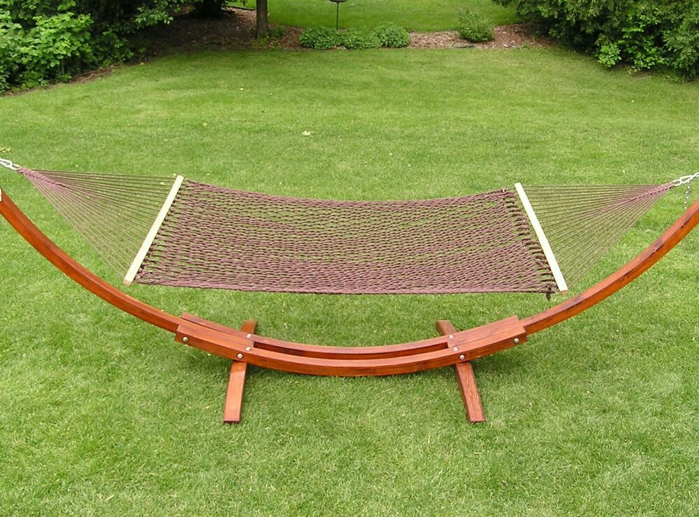 Extra Large Deluxe 2 Person White Cotton Rope Hammock Ebay