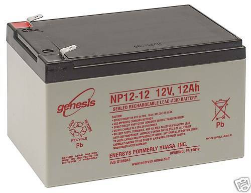 12ah battery 12v sealed lead acid battery enersys ebay. Black Bedroom Furniture Sets. Home Design Ideas
