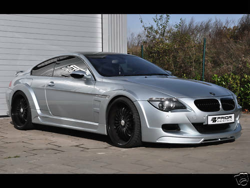 bmw e63 m6 widebody kit by prior design body kit 6 series e64 wide body ebay. Black Bedroom Furniture Sets. Home Design Ideas