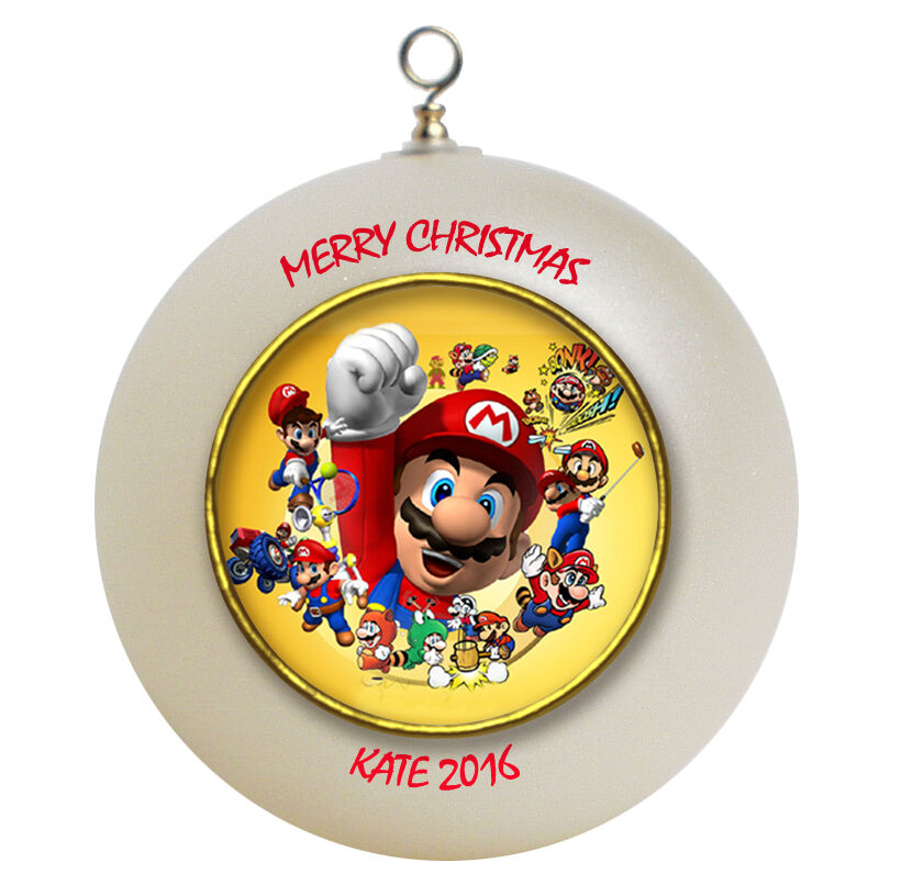 Personalized Super Mario Brothers Christmas Ornament